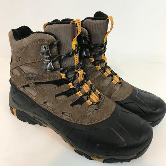 ebe038f8a57 Merrell Men Moab Polar Waterproof Boots SZ 12